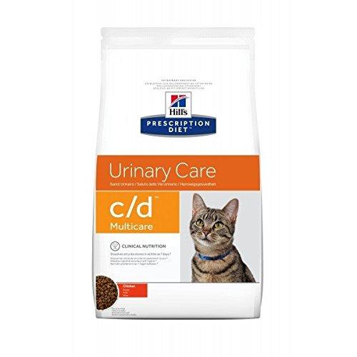 Hill's Prescription Diet Urinary Care c/d Multicare per problemi urinari Mangime secco gusto pollo, 1.5 kg, Confezione da 2 pezzi