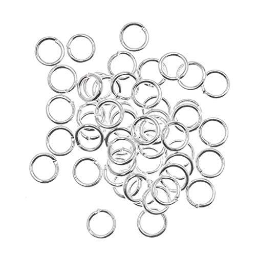 Beadaholique JR/040X6S 50-Piece Open Jump Rings, 6mm, 18-Gauge, Silver
