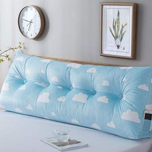 WenBin - Almohada de lectura suave para cabecero, almohada de apoyo para la espalda, almohada de lectura triangular, cojín de cuña suave tapizado para dormitorio (color: D, tamaño: ancho: 60 cm)