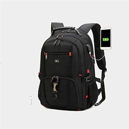 Backpacks Laptop Bag Travel Unisex Student School Bags Business Large Capacity Compartment Rucksack Casual Double Shoulders USB Charge Output Waterproof for Womens Mens