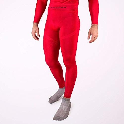 HO Soccer Underwear Trousers Performance Red Thermohose Lang, Erwachsene Unisex, Rot, L