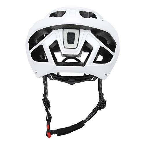 Omabeta PC & EPS Material Casco de bicicleta con luz trasera para bicicleta para protección de equitación (blanco)