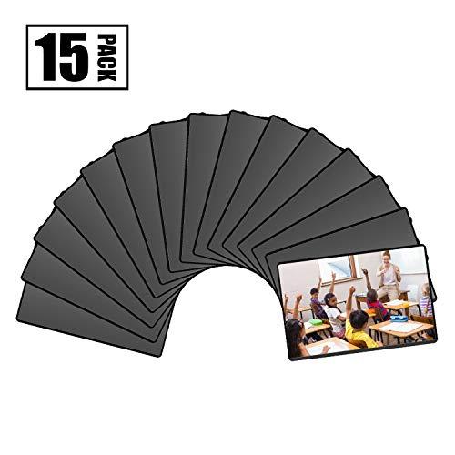Magicfly Cadres Photos Noir Magnétique Frigo 10x15 cm avec Poche Transparente, pour Réfrigérateur Casier Armoire de Bureau, Paquet de 15pcs