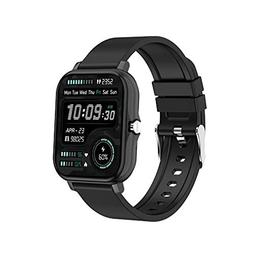 H20 Wireless Smartwatch Sport Fitness Pulsera Full Touch Square Pulsera Negro