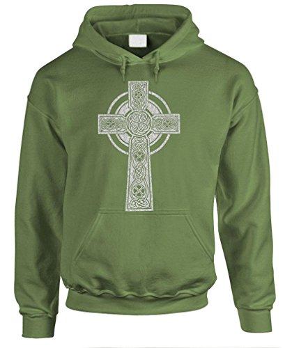 CELTIC CROSS - christian god jesus christ Pullover Hoodie, 3XL, Army