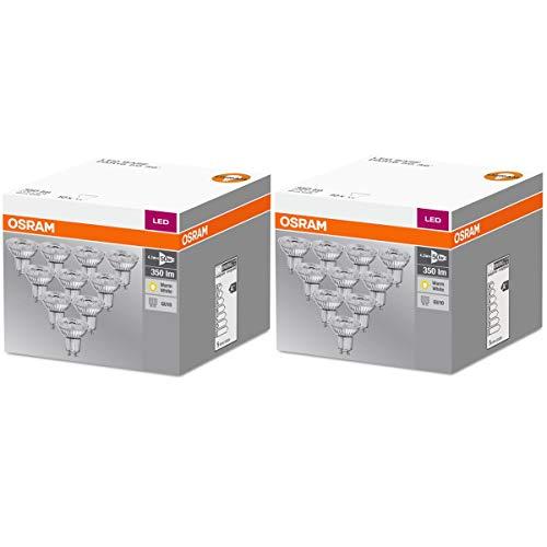 OSRAM LED BASE PAR16 GU10 4,3W=50W 350lm 2700K warmweiß nondim Germany 20er-Pack