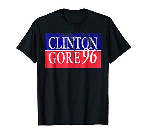 Clinton Gore 96 1996 2020 Vintage Distress Campaign T-Shirt