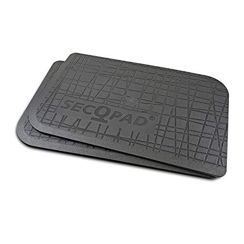 secQpad® Premium Universal Anti Rutsch Pad Matte | Ladungssicherung | Granulatfrei Geruchlos | Winter Sommer | Kofferraum Ladefläche Anhänger Dachbox | 2er Set