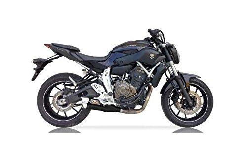 IXIL L3X Système d'échappement pour Yamaha FZ-07 FZ07 MT-07 MT07 2014 2015 2016 Noir