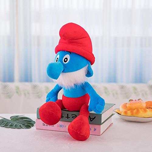 PETPAWA Schlumpf Plüsch Spielzeug Puppe Puppe Blue Elf Doll Geschenk-Blau Dad_35cm