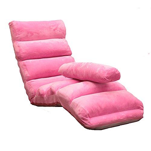 Xiaolin Lazy Couch Chaise Bay fenêtre Chaise Japonais canapé-lit Pliant Balcon Chaise Longue (Couleur : Pink)