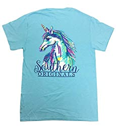 Girlie Girls Watercolor Unicorn Short Sleeve T-Shirt
