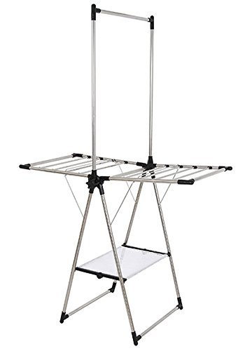 Greenway Stainless Steel Indoor/Outdoor Compact Drying Center with Mesh Shelf by Greenway