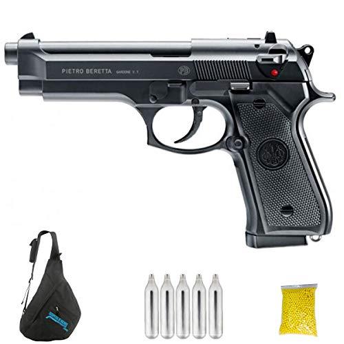Beretta 92FS (CO2 | Pistola de Airsoft Calibre 6mm (Arma Aire Suave de Bolas de plástico o PVC). Sistema: CO2. 1.3 Julios.