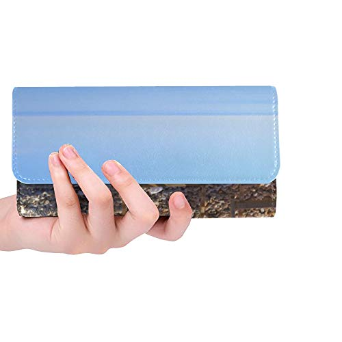 Rfid Blocking Purse Men Wallet Credit Card Holder Row Of Deck Chairs On Beach Women Small Wallet Trifold Leather Best Wallets For Women Credit Card Holder Case Handbag
