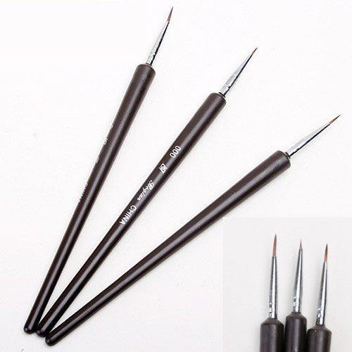 3 Petit dessin nail art salon Gel UV acrylique peinture pinceau stylo Set Outil