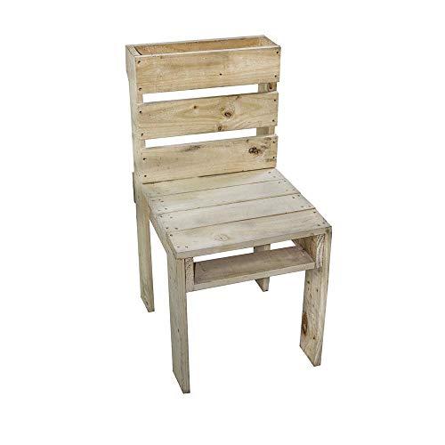 Sedia da Giardino in Legno 52 cm x 40 cm x 80 cm | Sedia da Giardino per Pallet | Mobili da Giardino da Esterno in Legno
