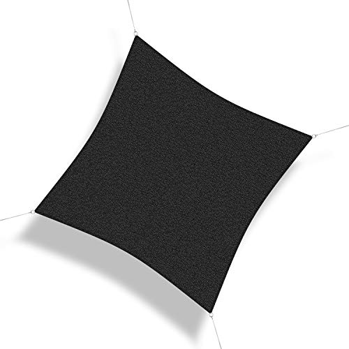 Corasol COR10 Voile d'ombrage perméable 5 x 5 m Noir