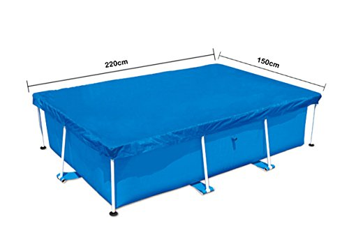 GRAFTS Bâche de piscine rectangulaire - Accessoires piscine (bâche, bleu, polyéthylène), 220 x 150 cm