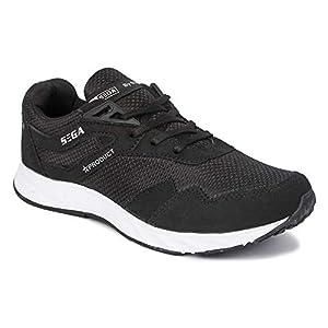 SEGA Men's Black Running Shoe – 8