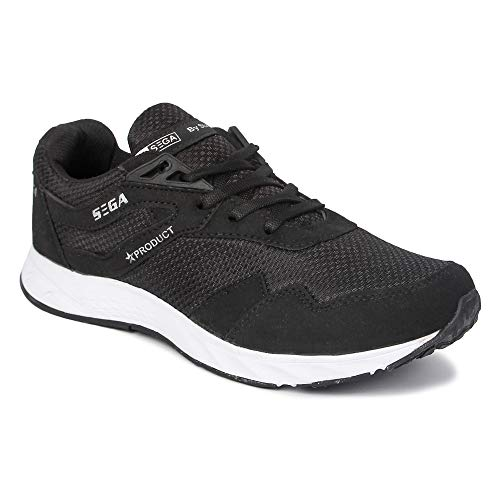 SEGA Men's Black Running Shoes - 8 UK
