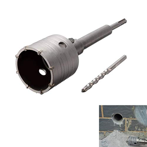 QLOUNI 65mm SDS Plus Shank Hole Saw Cutter Concrete Cement Stone Wall Drill Bit with 220mm Connecting Rod Drill