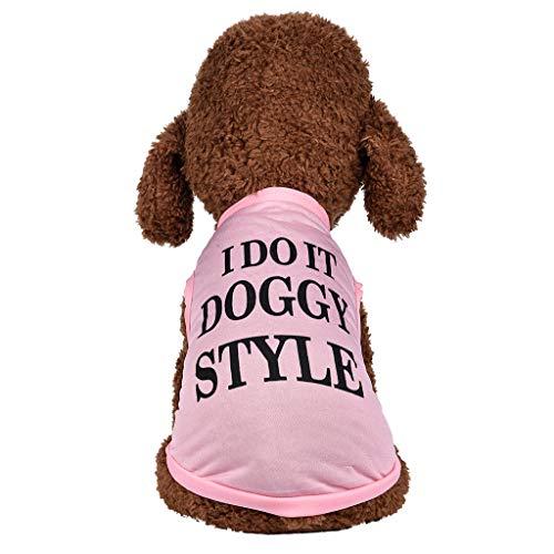 Amphia - Fleece-Kapuzenpullover,Hund Haustier Kleider Kapuzenpullover Warm Sweatshirts Hündchen Mantel Bekleidung(Rosa,S)