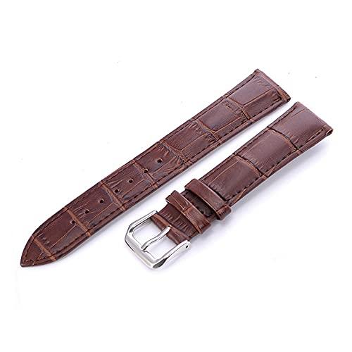 Correa Piel Reloj Correas de Cuero de la Banda de Reloj 12 14 16 18 20 22mm de Reloj Accesorios de Reloj de Cuero Correa de Correa de cinturón Correa Reloj (Band Color : Brown)