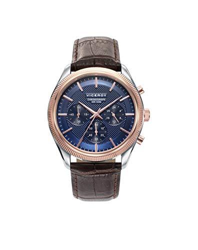 Viceroy Reloj Cronógrafo para Hombre de Cuarzo con Correa en Cuero 401073-37