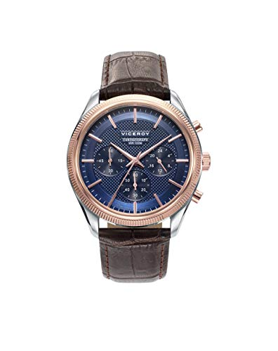 Viceroy Herren Chronograph Quarz Uhr mit Leder Armband 401073-37