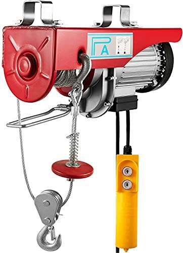 BuoQua Paranco Elettrico 220v, 200kg/400kg Strumento di Sollevamento Elettrico, 1500LBS Verricello Elettrico Montacarichi da Balcone Adatto per Edilizie, Fabbriche, Costruzioni