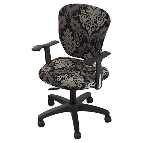 KUANGLANG Modern Elastic Stretch Bürostuhlbezug Computer Stuhl Schonbezug Universal Abnehmbarer Anti-Schmutziger Schonbezug Protector