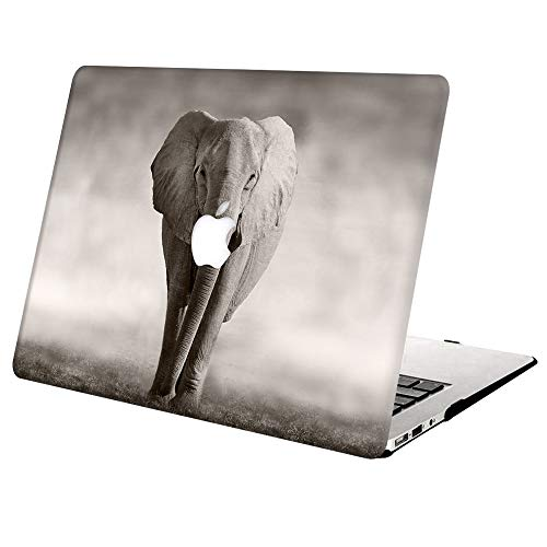 MacBook Pro 13 Inch Case A1502 A1425 Release 2015 2014 2013 2012,AJYX Plastic Hard Shell Snap On Case for Old Version Laptop Mac Pro Retina 13 - Elephant 1