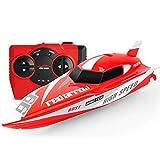 GizmoVine Mini Barco Teledirigido Lancha Teledirigida RC Boat 2.4G High Speed Racing Boat Summer...