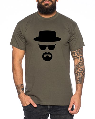 Heisenberg Herren T-Shirt Hermanos Bad Mr White Breaking, Farbe:Khaki;Größe:XL