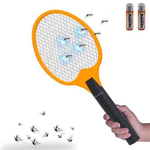 Raqueta Matamoscas Eléctrico,3000 Voltios Mata Mosquitos