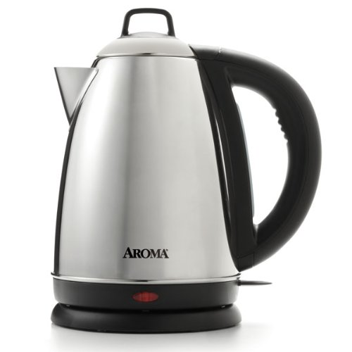 Aroma Housewares Hot H20 X-Press 1.5 Liter (6-Cup) Cordless Electric Water Kettle, Stainless...