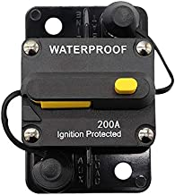 ANJOSHI 200Amp Circuit Breaker 50A-300A Inline Fuse Inverter with Manual Reset Breaker for Car Truck Rv ATV Marine Boat Vehicles/Electronic Systems 12V-36VDC