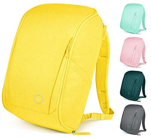 Simple Modern Wanderer Backpack with Laptop Compartment Sleeve - 25L Travel Bag for Men & Women College Work School: Sunshine