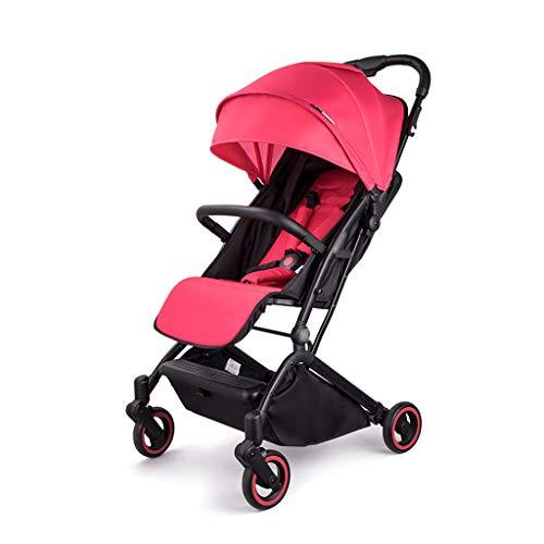 BLWX - Bébé Poussette légère et Simple bébé Enfant Pliant Portable Ultra léger Petite Peut s'asseoir inclinable Parapluie Poussette (Couleur : Red)