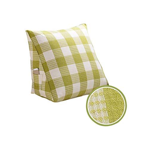 J-Kissen Dreieckskissen, rückseitiges Keilkissen - Dreieckskissen Großes Kissen Sofakissen Abnehmbares Lesekissen, 60x50x20cm (Farbe : Cross-Green)