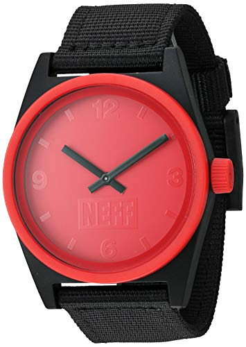 Neff Men's Daily Watch Coral Black Woven