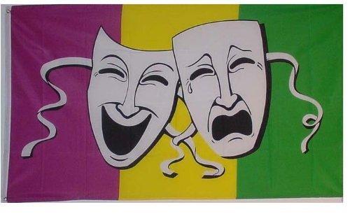 1000 Flags comédie et tragédie et chaussettes Cothurne Masque Théâtre 5 'X3' Drapeau