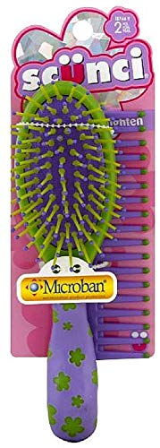 Scunci Girl Brush & Comb Set, Assorted Colors 1 ea (Pack of 12)