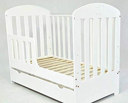 Culla con cassetto/letto per bambini 'SISI' + materasso in schiuma, colore: bianco