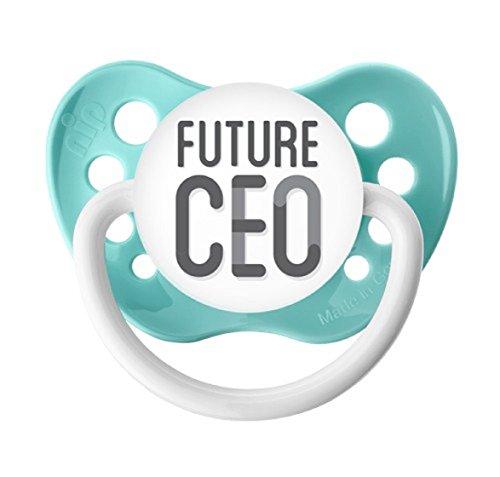 Ulubulu Expressions Pacifier Future CEO Seafoam Color (6-18 Months)