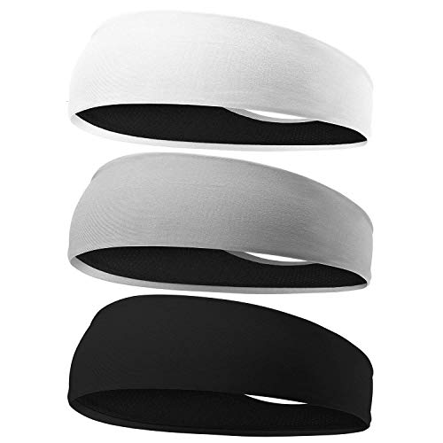 EasYoung Headbands for Men, 3 Pack Breathable Men's Headbands, Sport Sweat...