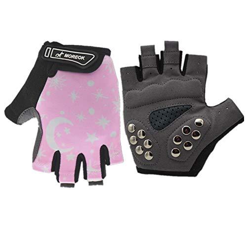 Fingerlose Handschuhe Kinder Fahrrad Handschuhe Herren Sporthandschuhe Kinder Fahrrad Handschuhe Fitnesshandschuhe Mann Handschuhe Fahrrad Sporthandschuhe Herren pink,m
