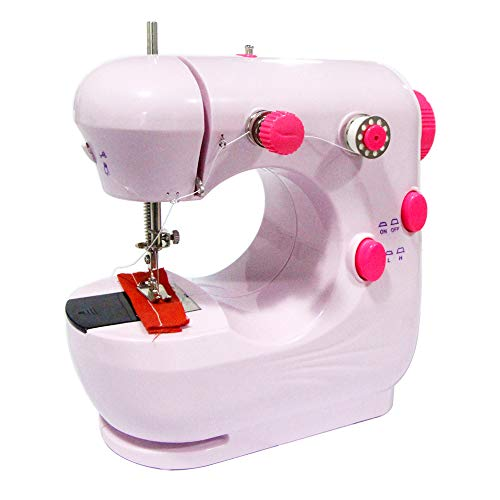 Mini Sewing Machine Portable Household Beginner Tailors Free-Arm Crafting Mending Machine with Lamp and Thread Cutter High Low Speeds Hand-operation and Foot Pedal -  Kehangda, AA04