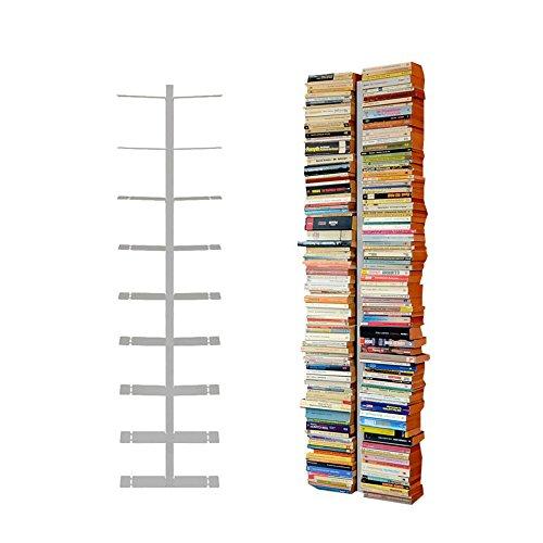 Radius Design booksbaum Double Wand Gross Silber, 2tlg. Best.aus: Halterung + Einlegeböden [W]